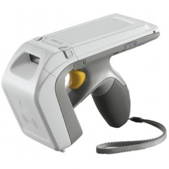 silver hand held scanner device